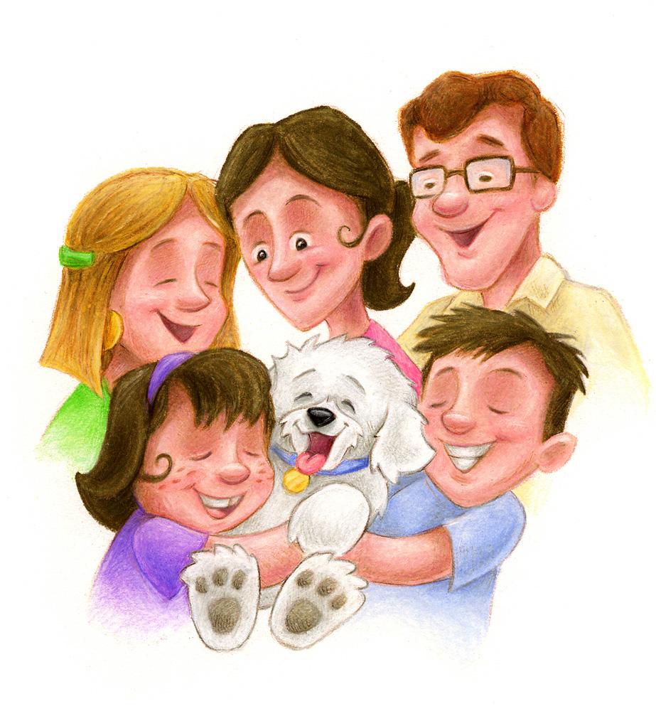 В кругу семьи картинка нарисованная